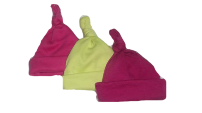 preterm Premature baby clothes Girls pack 3 knot hats Brightly Coloured 2-3lb babies