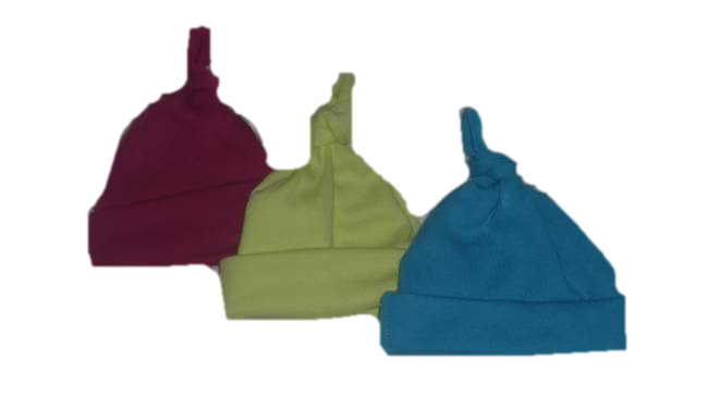 Premature baby clothes Boys  3 knot hats Brightly Coloured 5-8lb
