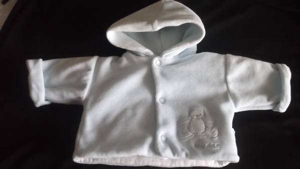 premature baby clothes boys pram coat  jacket blue baby teddy  3-5lb