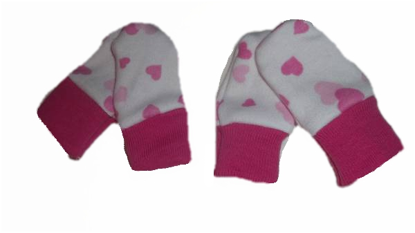 early baby clothes Scratch Mittens love hearts  2 - 3lb pack 2