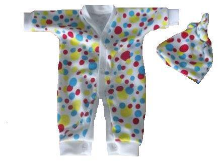 premature baby clothing RAINBOW DROPS Any size Unisex