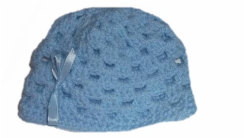boys tiny baby  hats a Crochet hat in BLUE LAGOON 5-8LB