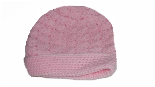 girls tiny baby clothes hat Crochet PINK PASSION 3-5lb