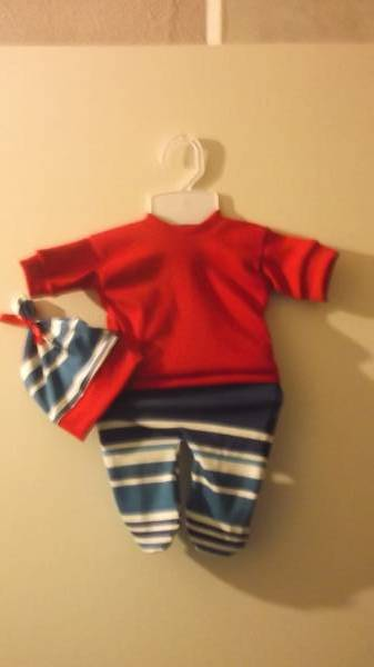 tiny boys premature baby clothing in BLUE HARMONY size 3-5lb