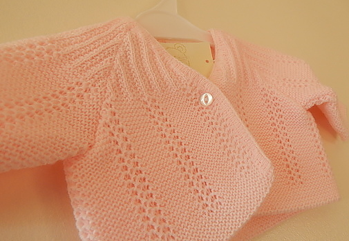 prem cardigan NEAT KNITS Baby pink  tiny babies size 5-8lb