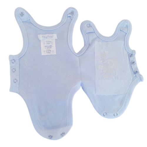premature babies vests 5lb baby incubator upto 5.5lb or 2.5kg blue LITTLE PRECIOUS