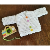 white clothes babies cardigan burial baby girl 3-4lb PRETTY IN THE PARK