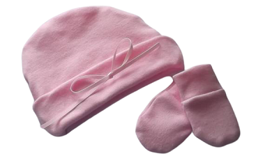 early premature baby clothes hat n mittens 2-3lb size  gift set PASTEL PINK