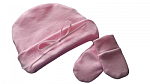 very small girls baby clothes little girl miscarriage Hat n mitts 1-2lb BABY PINK