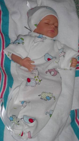 TinyTiniest  Baby boys clothes burial gown   BABY BUDDIES 12 inches
