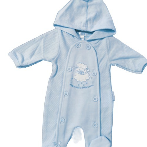 baby pramsuits boys premature all in one coat 3-5lb LITTLE LAMB
