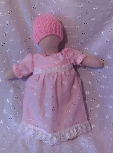 girls baby bereavement clothes babies gown nappy PINK PEARL 22-24 WEEK