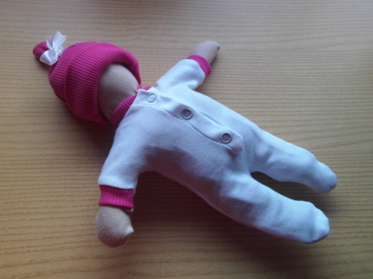 Girls white stillborn baby clothes DEEP PINK trim born at 24 week for the funeral