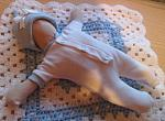 boys premature baby loss clothes bereavement stillbirth RIB TRIM Blue 3-5lb