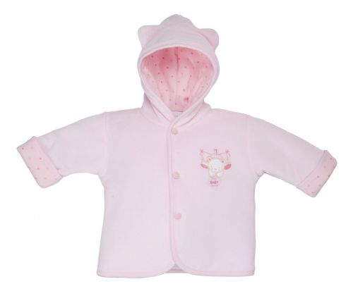Premature baby coat Tiny Jacket in 5-8lb PINK SWEET BEAR