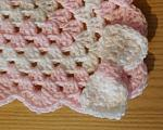 baby bereavement blankets PINK WHITE preterm size born at 22 weeks