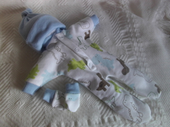 baby clothes boys cute print babies bereavement DINOLAND born 23-24 weeks