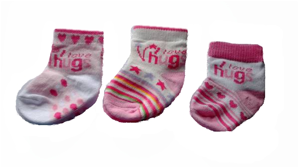 Girls tiny baby clothes socks HUGGABLES pink 5-8lb socks premature babies