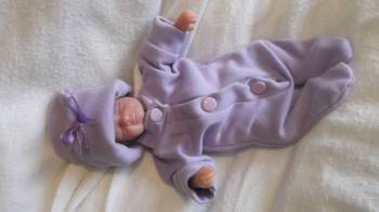 tiny baby loss clothes stillbirth baby clothes LOVELY IN LILAC 20-22 weeks pregnant
