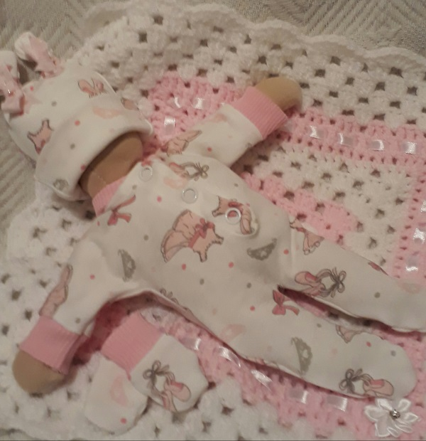 sweetest baby bereavement clothes girls complete outfit BALLERINA BLESSING born at 20 weeks