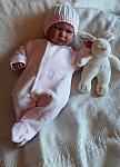 tiny baby clothing babies sleepsuit 5-8lb PINK or BLUE BEDTIME TOYS
