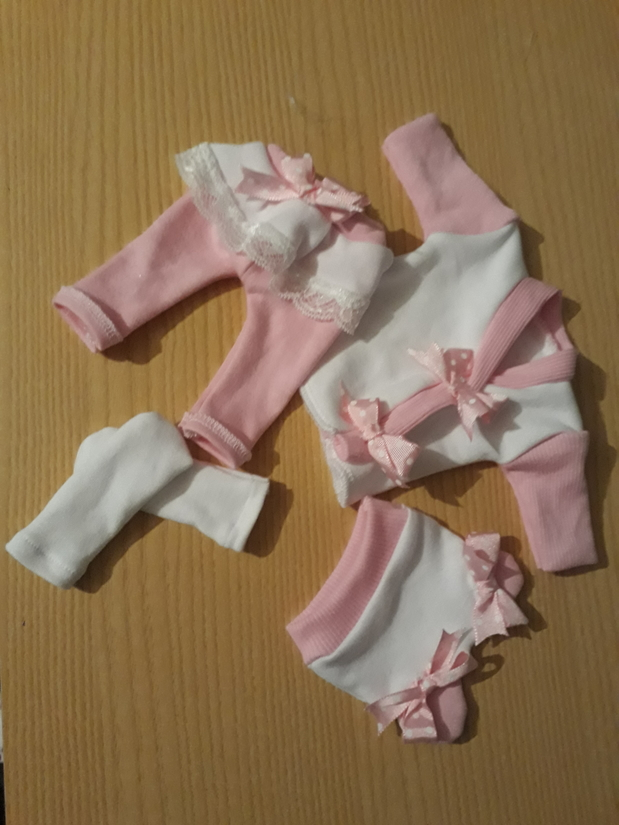 stillborn baby clothes girls BELLABABE full outfit born 23-24 weeks