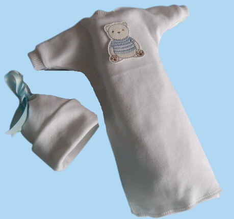 very tiny baby bereavement clothes Blue TEDDY DAYDREAM born 20-24 weeks