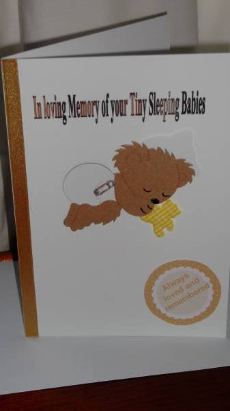 Condolence Card Multiple Birth Babies sympathy card UNISEX twins or triplets