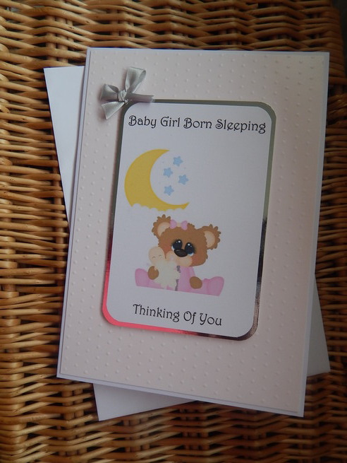 babies bereavement card girl baby loss STARS OF WONDER