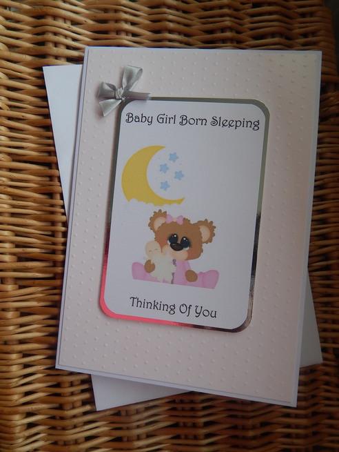 babies bereavement sympathy card girl baby loss STARS OF WONDER