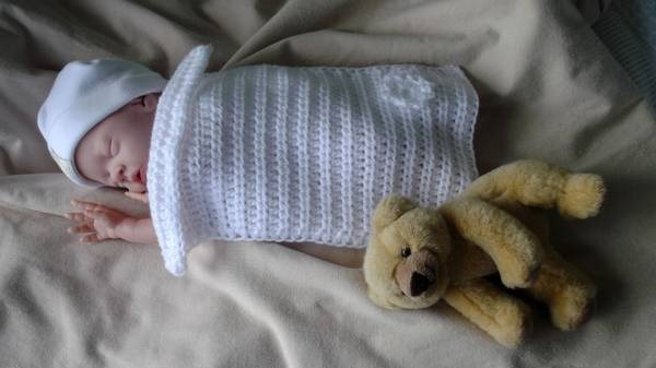 Baby Funeral blanket micro prem 16-20 weeks gestation CHERISHED CHILD
