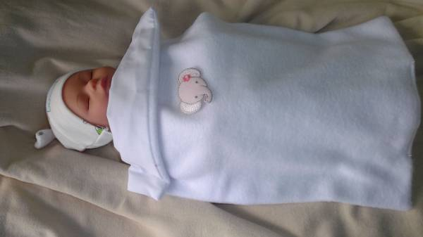 Tiny Baby Loss casket blanket PERFECT PEACE white 16-20W GESTATION