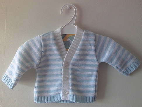 Boys Cardigan 5-8lb blissful baby BLUE