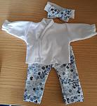 early baby clothes girls pretty complete outfit LUV U BABE blue flowers 2-3lb