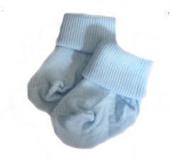 Snuggies Premature Baby socks,size 000 socks, BABY BLUE 5-8lb