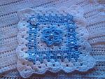 baby bereavementblankets for baby loss BLUE ROSE born16 -20weeks