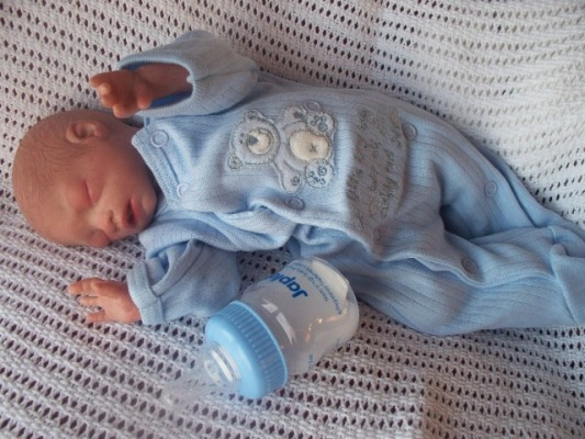 Boys premature baby clothes 5-8lb Premature babygrow sleepsuit TINY TED