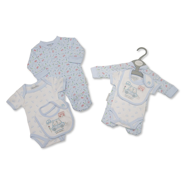 boys premature baby clothes gift set BRUMBRUM CARS 3-5lb