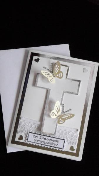 baby sympathy cards baby bereavement card SILVER CROSS