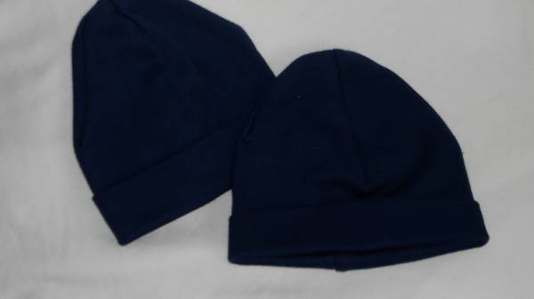 premature baby hats pack 2 NAVY BLUE 3-5lb  tiny babies beanie hats