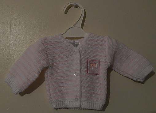 girls tiny baby  clothes knitted cardigan MILLY MOO 5-8lb pink