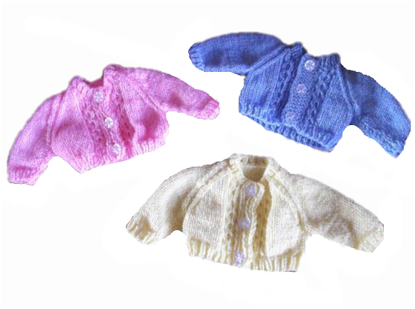 Preterm baby sized Premature baby CARDIGAN 2-3lb COMFY CHERUB early baby
