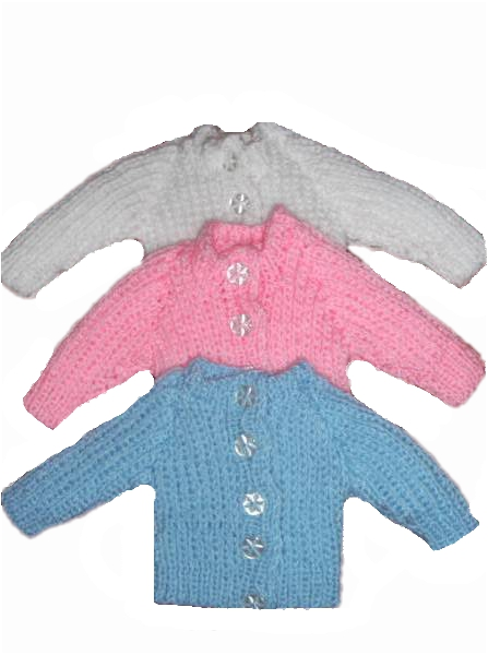 early baby CARDIGAN preterm baby 2-3lb CHUNKY KNIT Premature baby