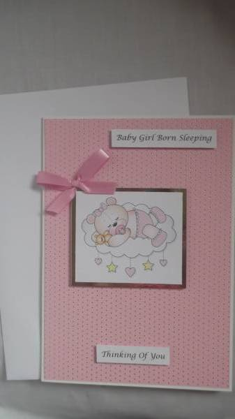 baby bereavement cards Pink IN THE CLOUDS baby loss
