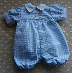 boys baby bereavement clothes designer rompersuit CLASSIC CHECK in blue weighing 1-2lb