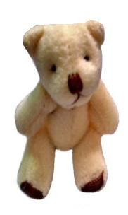 cream tiny teddies teddy bears COPPER miscarried baby memory box 45mm