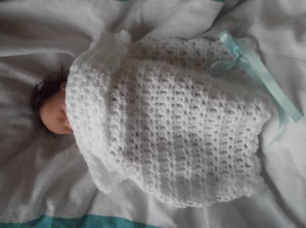 Baby bereavement burial blanket tiny18-22 weeks gestation SLEEPING PEACE