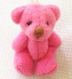 tiny teddies 4cm baby bereavement gift stillborn babies DEEP PINK teddybear