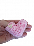 early baby clothing crochet hat and shoes 2-4lb PINK