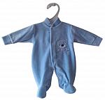 early baby BLUE velour preterm sleeper 2- 3 lb HELLO BEAR